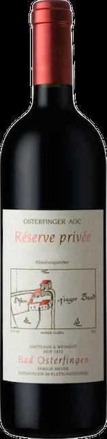 Pinot Noir Reserve Privée
